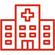 Red hospital icon